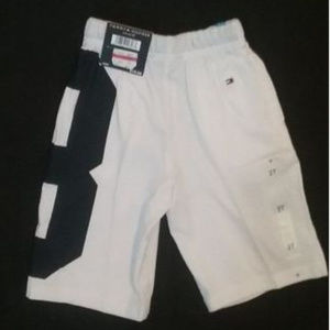 Tommy Hilfiger Bottoms - Tommy Hilfiger Boys Shorts White Blue 2/2T